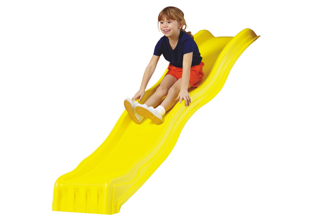 Studio shot of Yellow Cool Wave Slide from PlayNation Play Systems