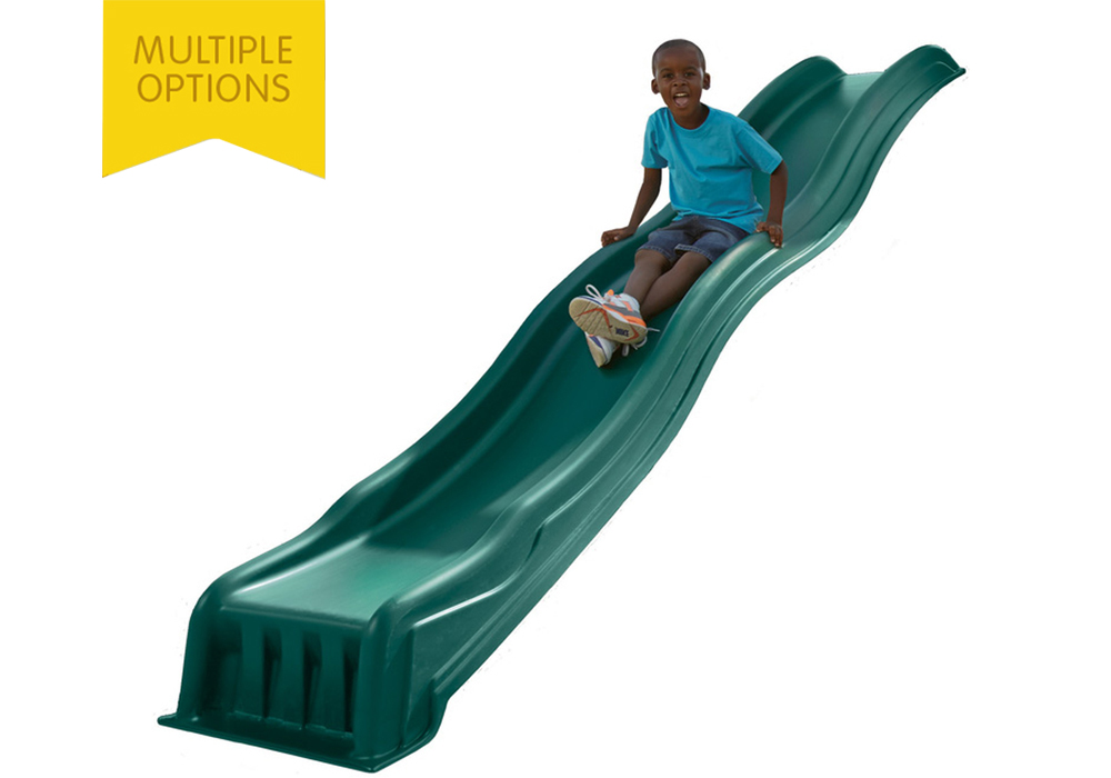 Studio shot of Green Cool Wave Slide from PlayNation Play Systems