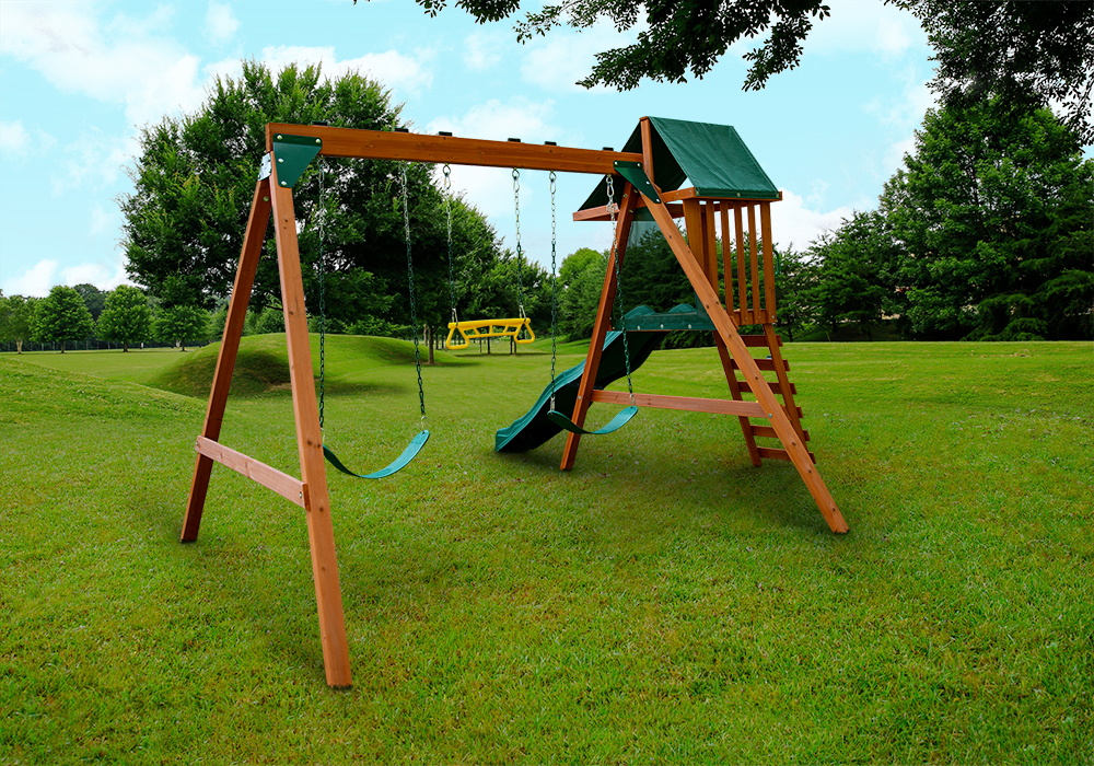 Rear angled view of Ranger Plus play set from PlayNation Play Systems.