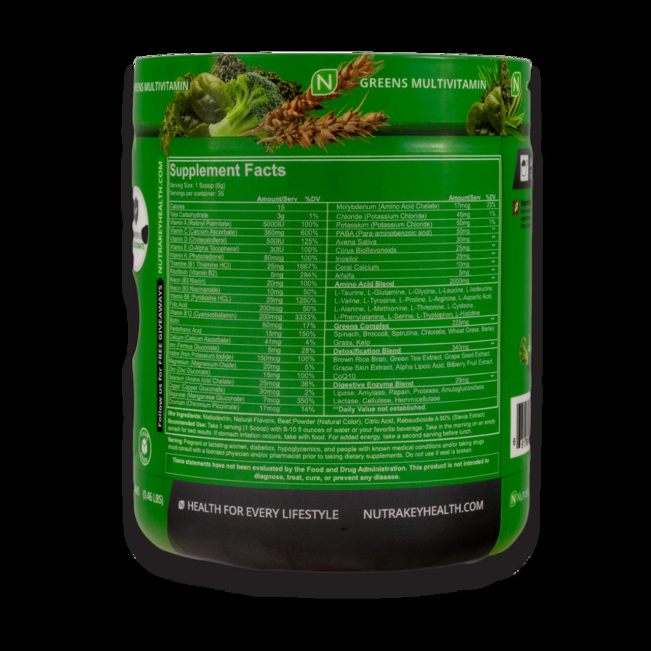 Nutrakey Envie Greens & Multivitamin