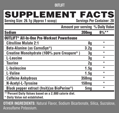 Nutrex Outlift Preworkout