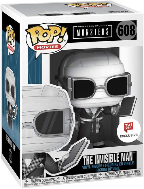 Funko Pop 608 Universal Monsters The Invisible Man Walgreens Exclusive