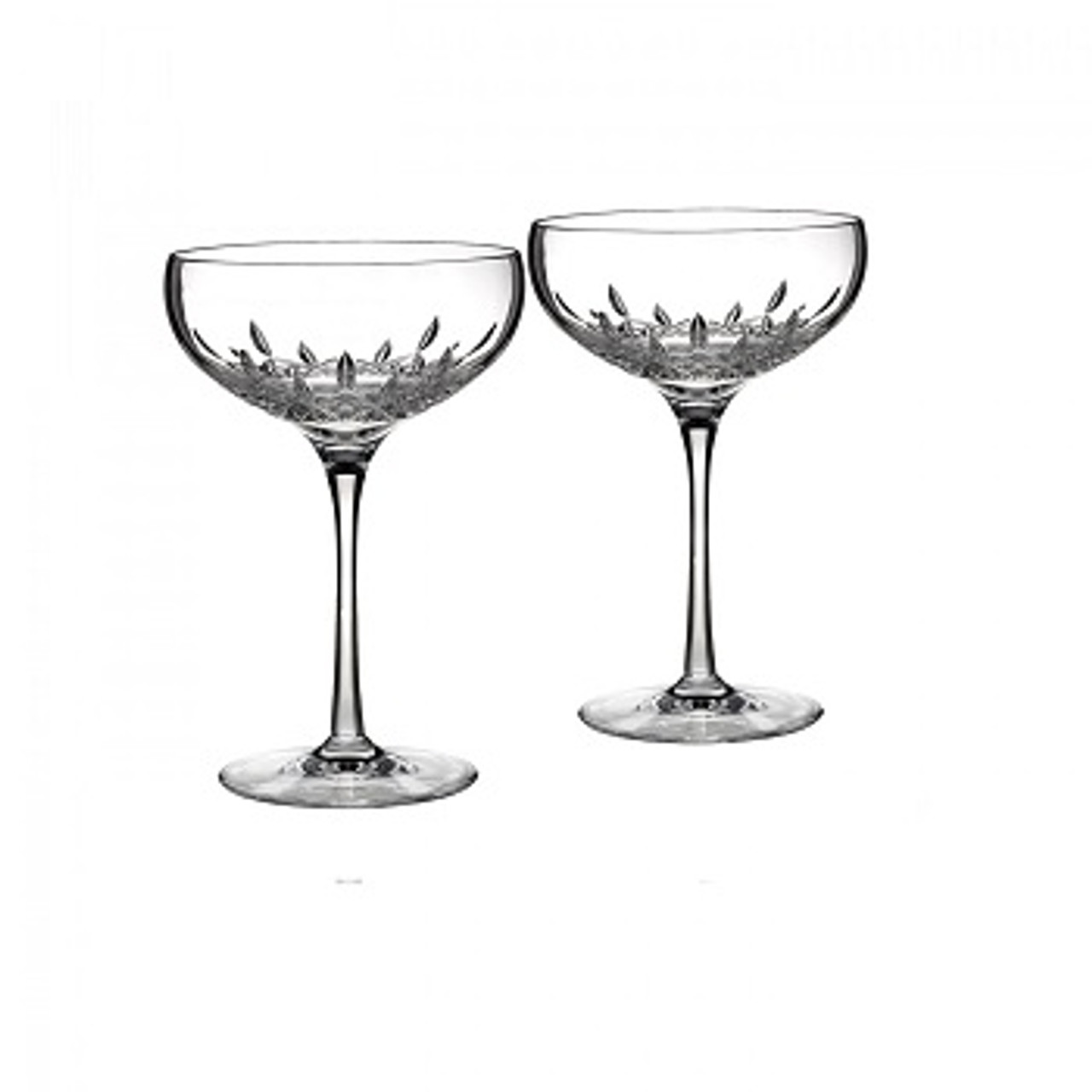 Waterford Lismore Essence Champagne Saucers Vaudeville