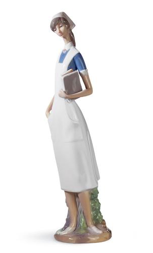 In The Laboratory Woman Figurine Vaudeville