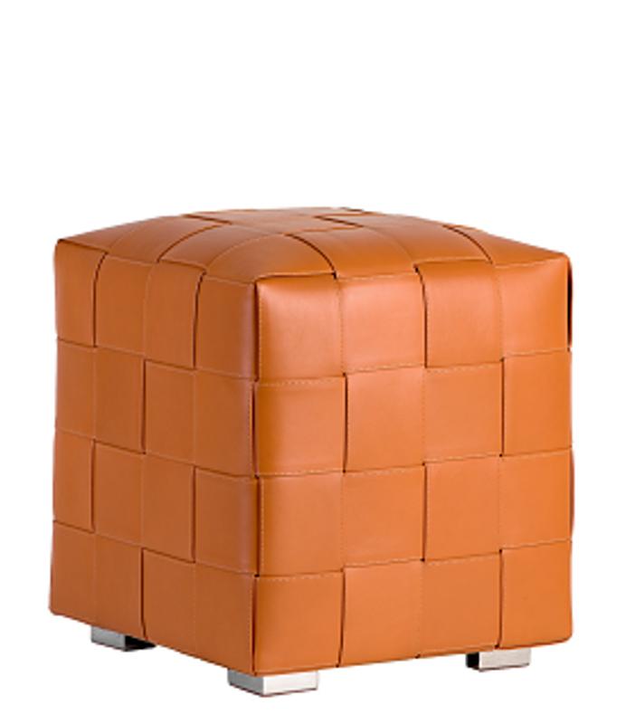 Superb Woven Leather Ottoman Lamtechconsult Wood Chair Design Ideas Lamtechconsultcom