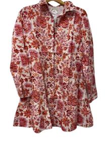 Mini Shirtdress, Autumn Chintz