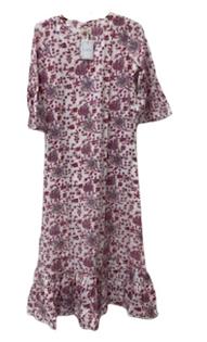 Ruffle Hem Dress, Plum Fields