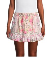 Baydar Skirt, Magenta Flower