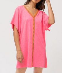 Mini Abaya, Hot Pink