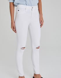 Farrah Skinny Ankle, Destructed White