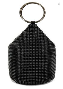 BIANCA Ball Mesh Handle Bag, Black