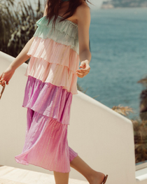 Gigi Midi Dress Pacific Pastel