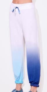 Dip Dye Sweatpants, Aqua Blueberry