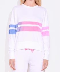 Ombre Stripe Sweatshirt, White