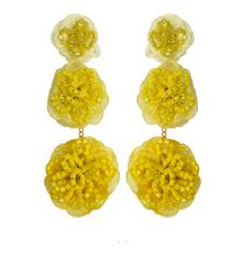 Raffia Earrings, Yellow