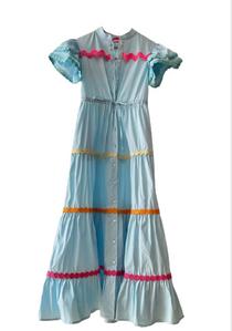 Baba Dress, Blue