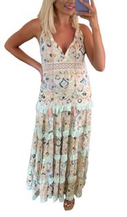 Boho Gypsy Maxi Dress, Pink