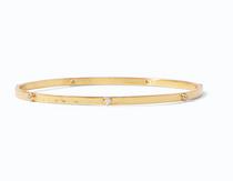 Crescent Bangle Gold CZ, Medium