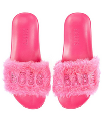 Slipper, Pink Boss Babe