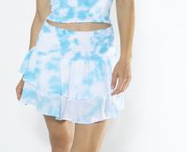 Portofino Skirt, Blue Tie Dye