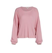 Georgie Rib Sweater, Pink Rose