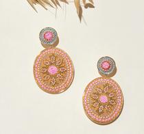 Hollis Earrings, Pink