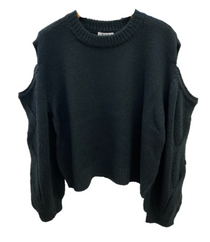 Cold Shoulder Cable Sweater