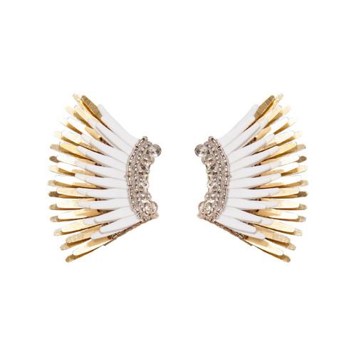 Mini Madeline Earring, White