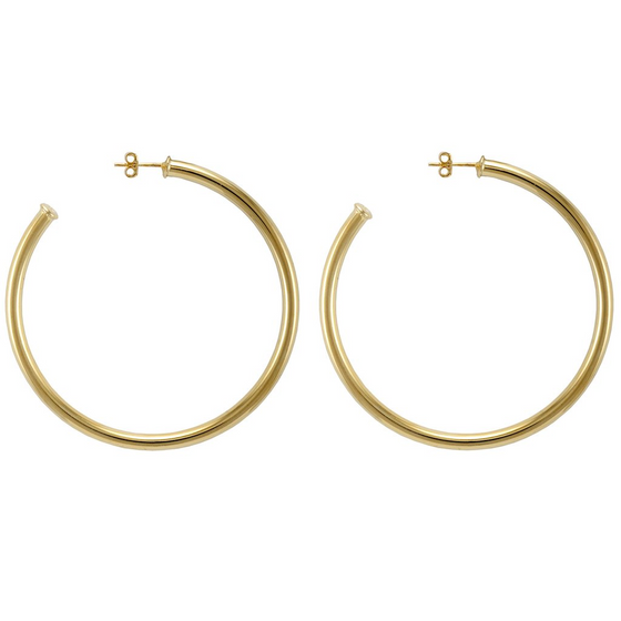 Small Favorite Hoop, Polished Gold