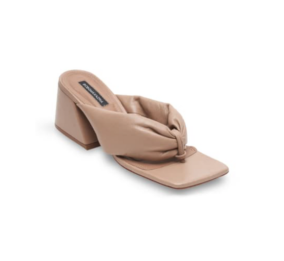 BCBG Callie Heeled Sandal, Almond