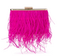 ESTELLE Feather Clutch, Fuchsia