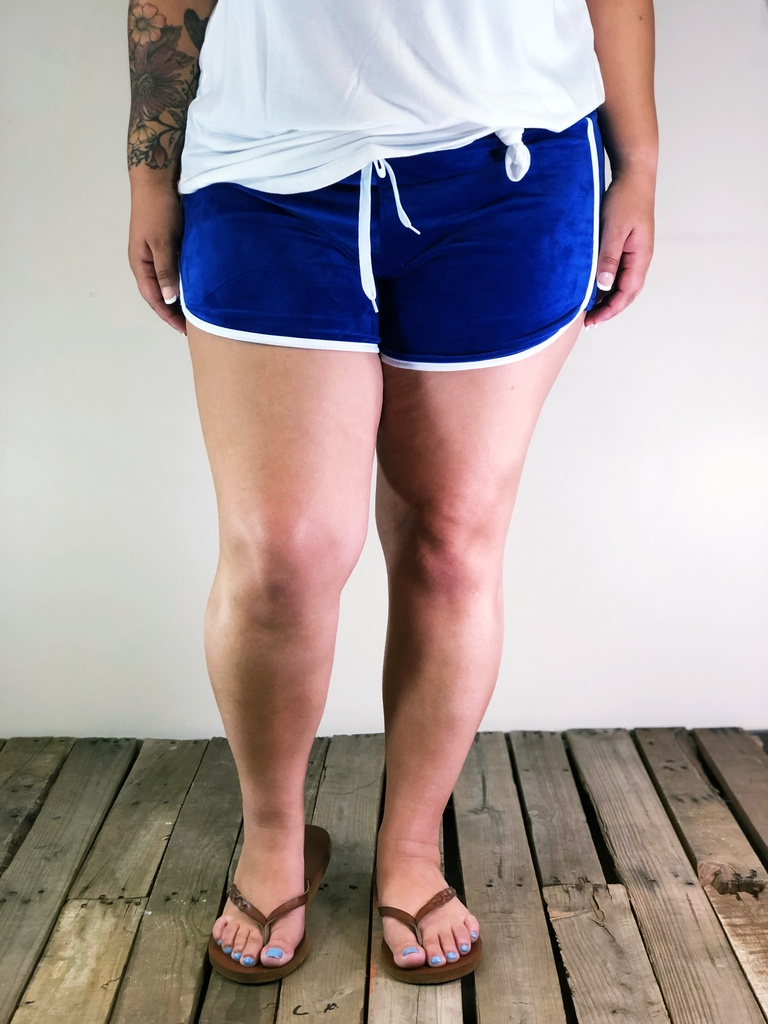 Velour Shorts- Royal