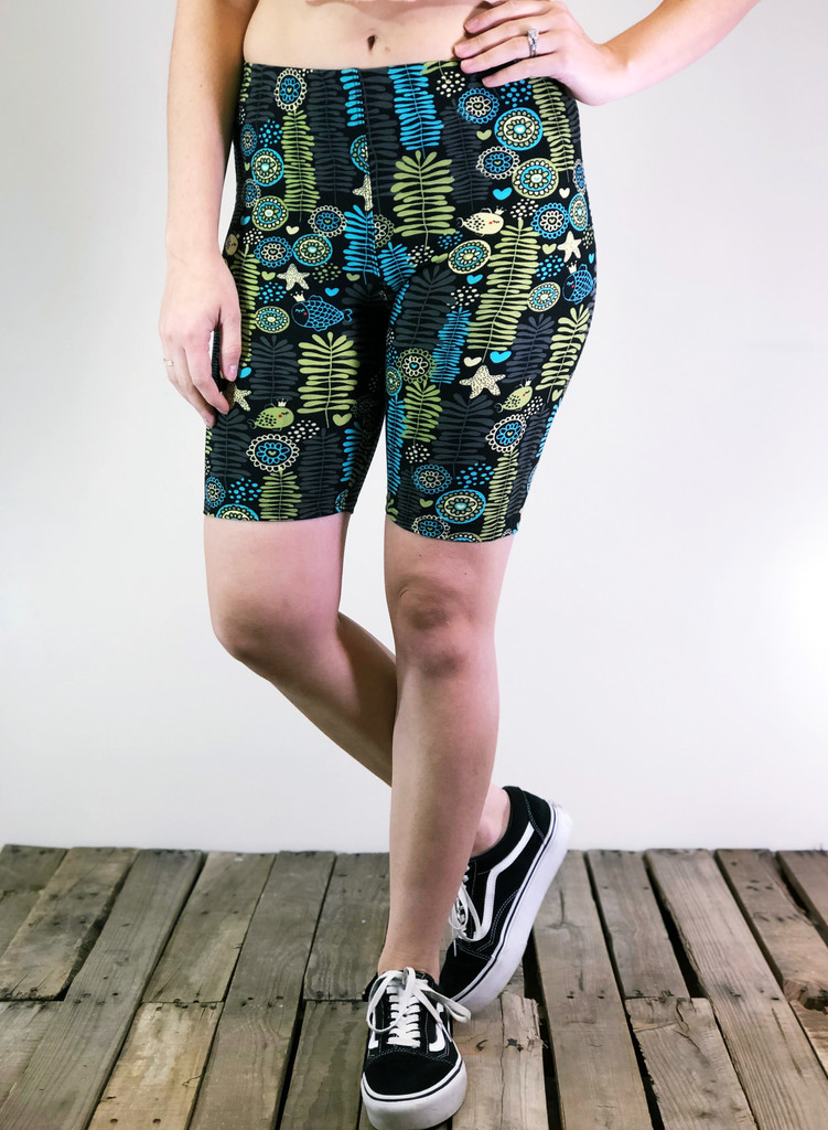 Bike Shorts- Grandmas Wallpaper