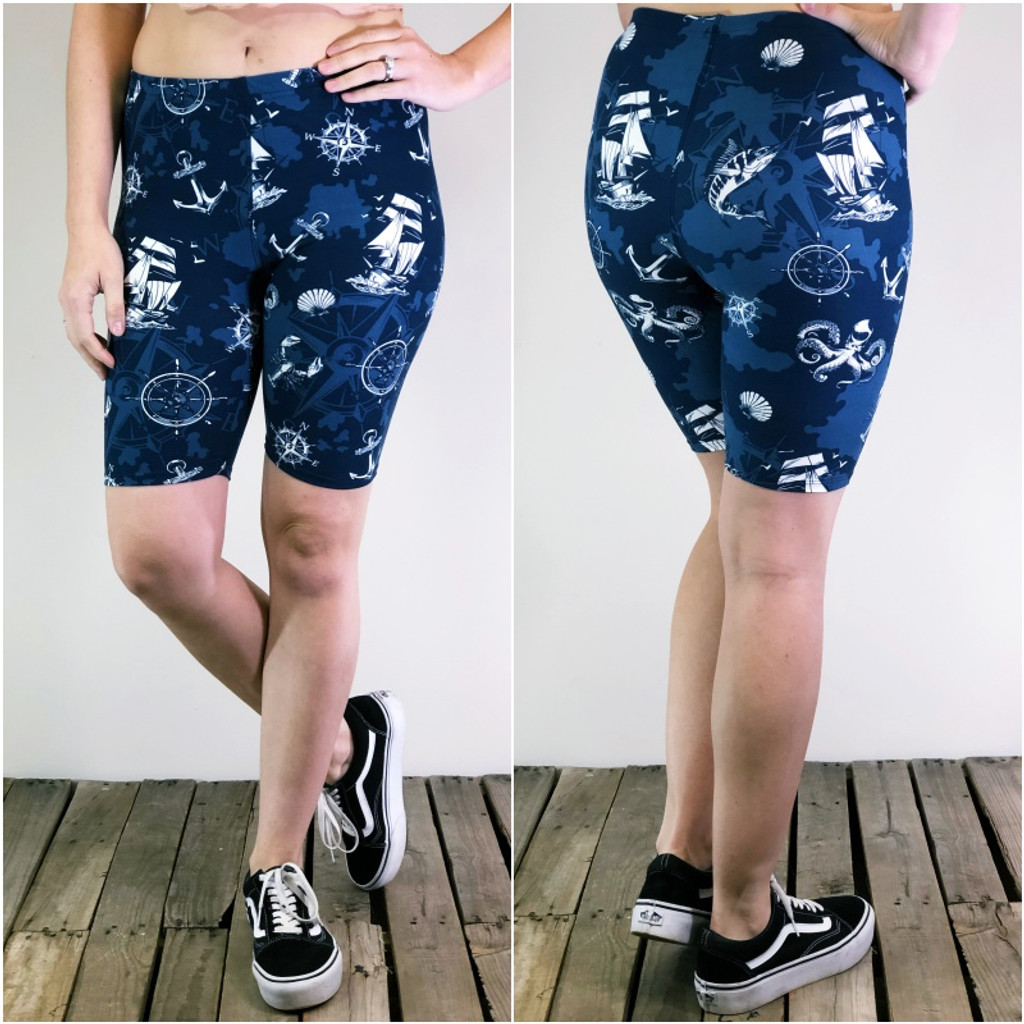 Bike Shorts- Ahoy Matey!