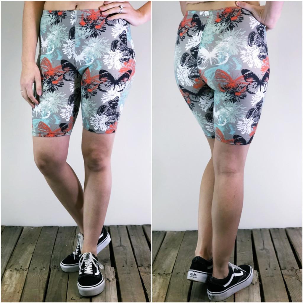 Bike Shorts- Monarch Garden