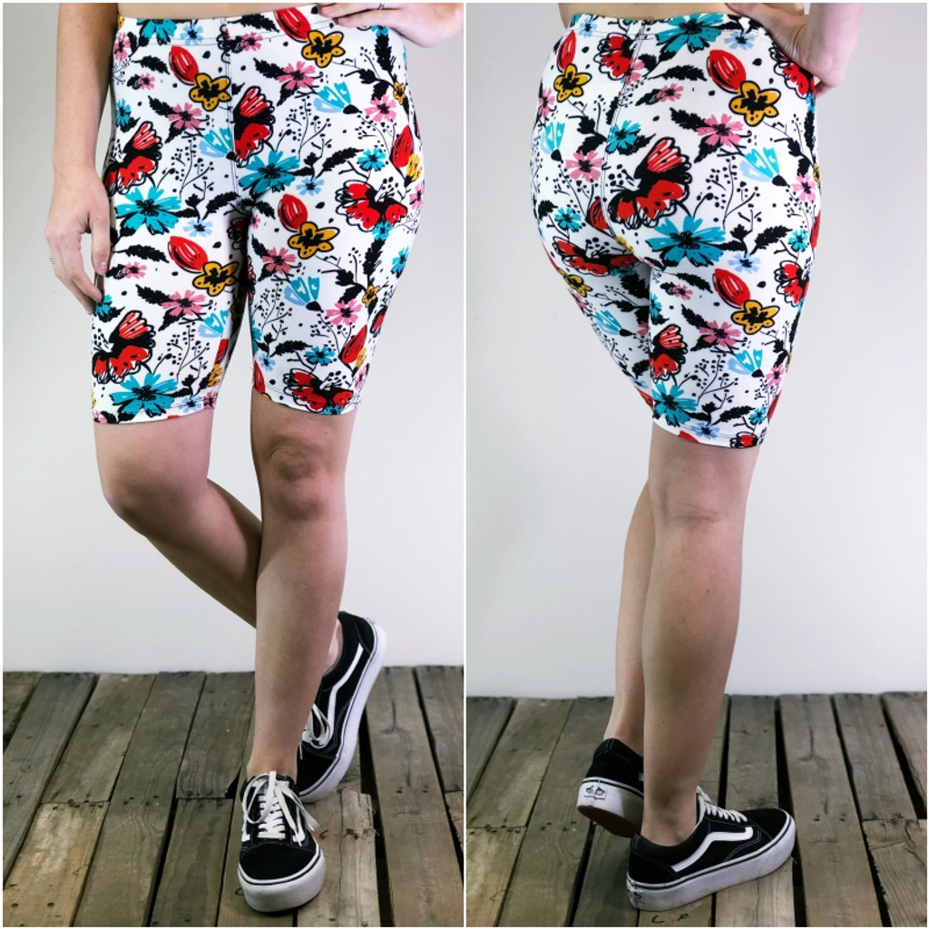 Bike Shorts- Colorful Canvas