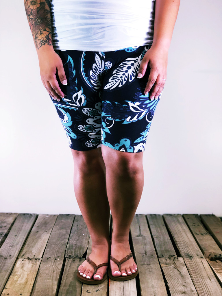 Plus Size Bike Shorts- Jaded