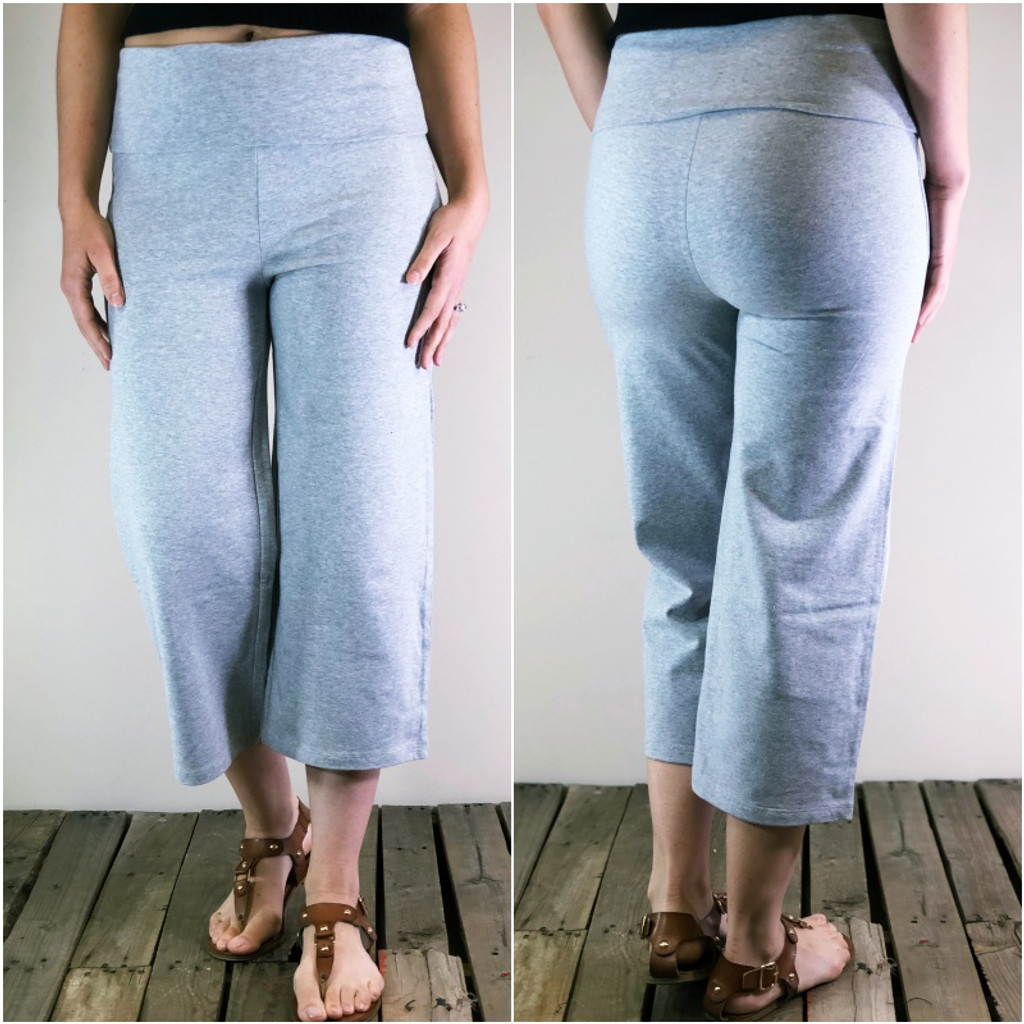 Yoga Capri Pants- Heather Grey
