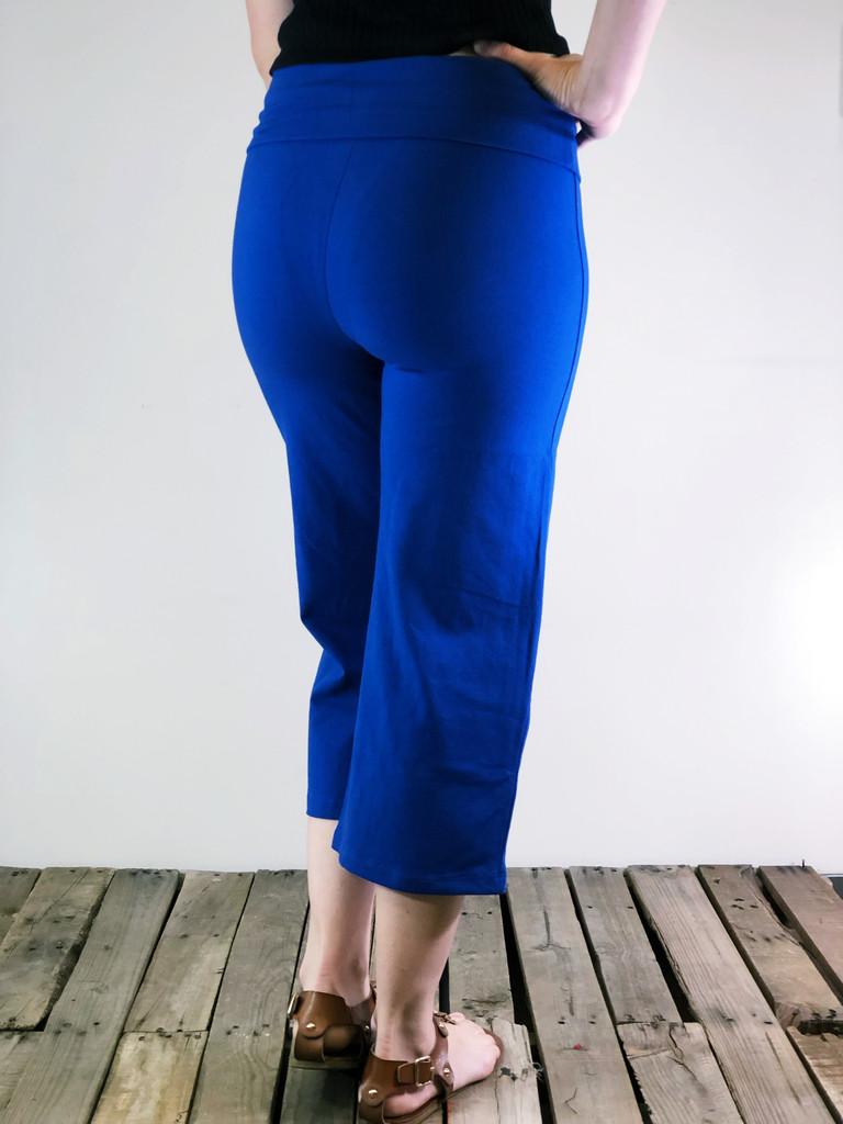 Yoga Capri Pants- Sapphire