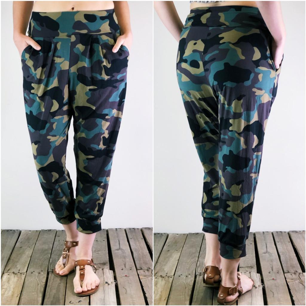 Harem Joggers- Camouflage