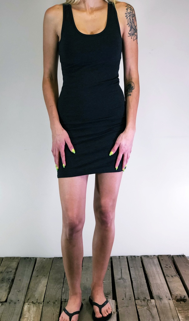 Body-Con Dress- Charcoal