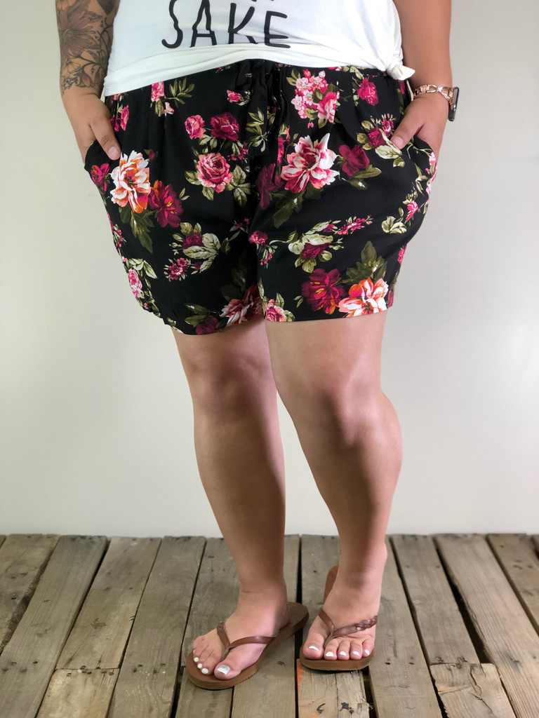 Plus Size Shorts- Romeo And Juliet