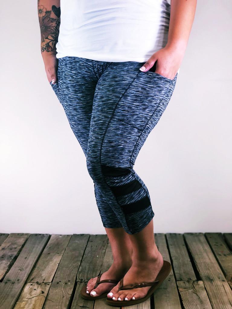 Plus Size Capri Activewear- Grey