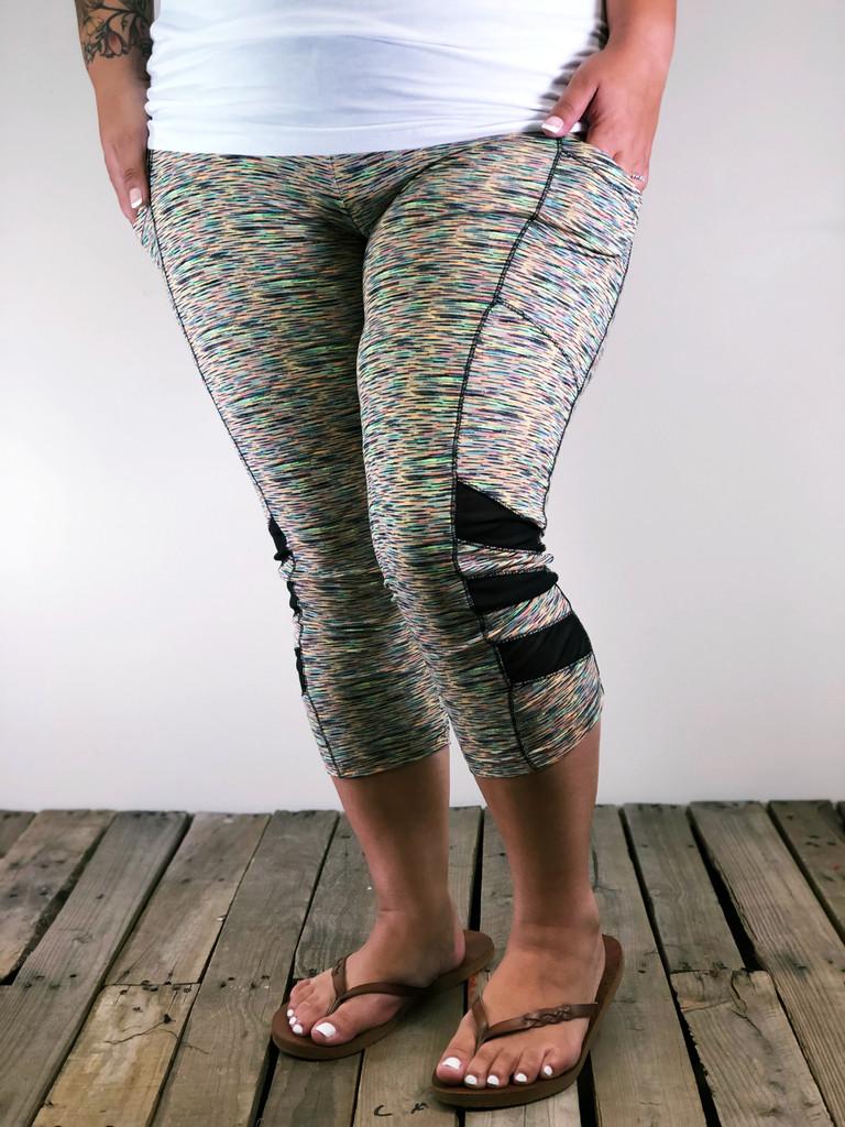 Plus Size Capri Activewear- Colorful