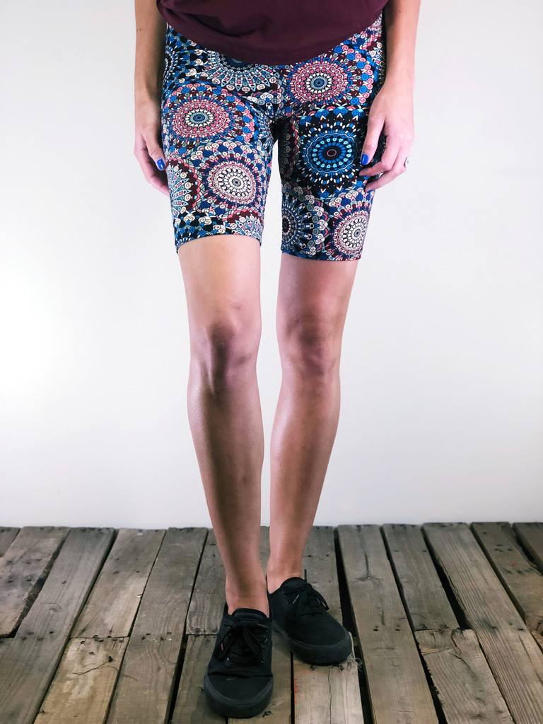 Bike Shorts- Dandelion Doilies