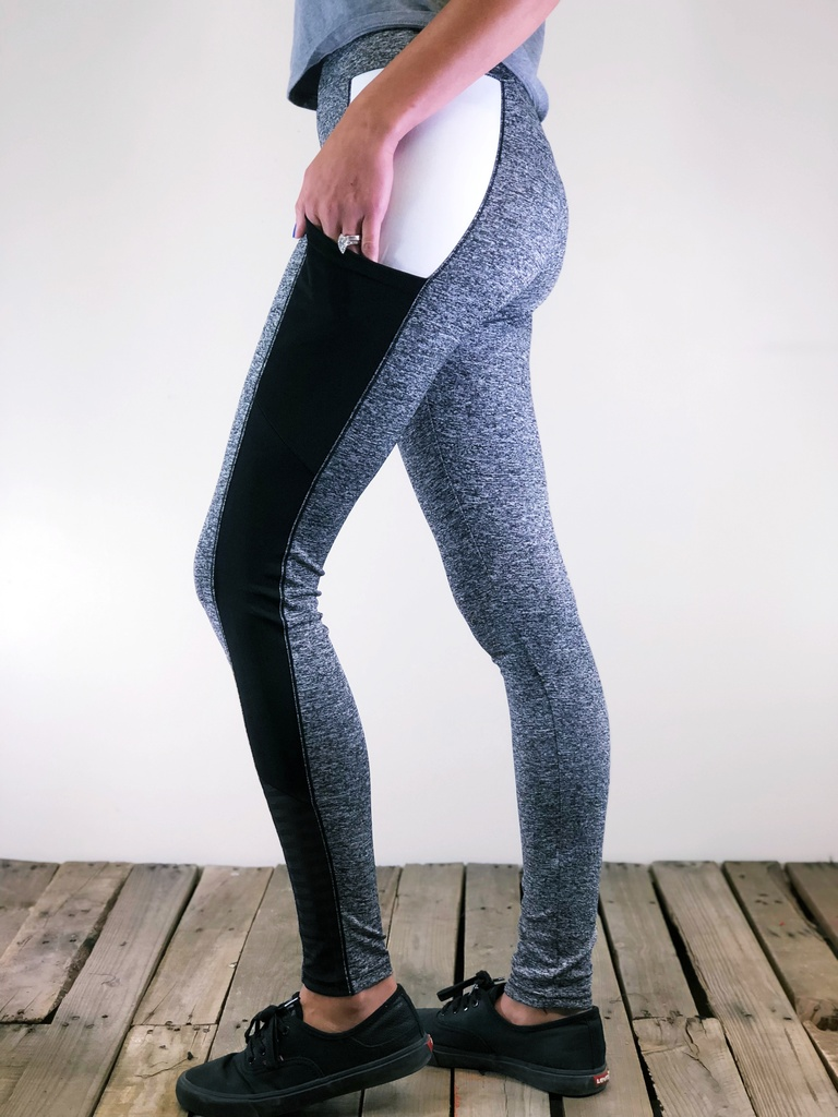 Activewear With Pocket- Heather Grey