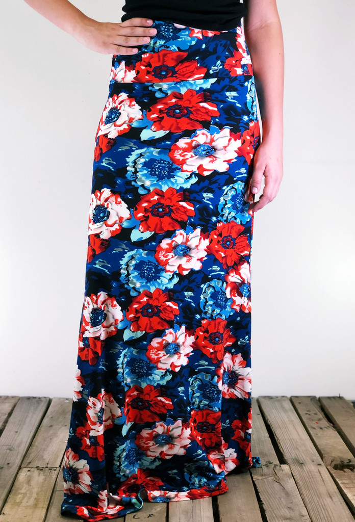 One Size Maxi- Poppin Petals