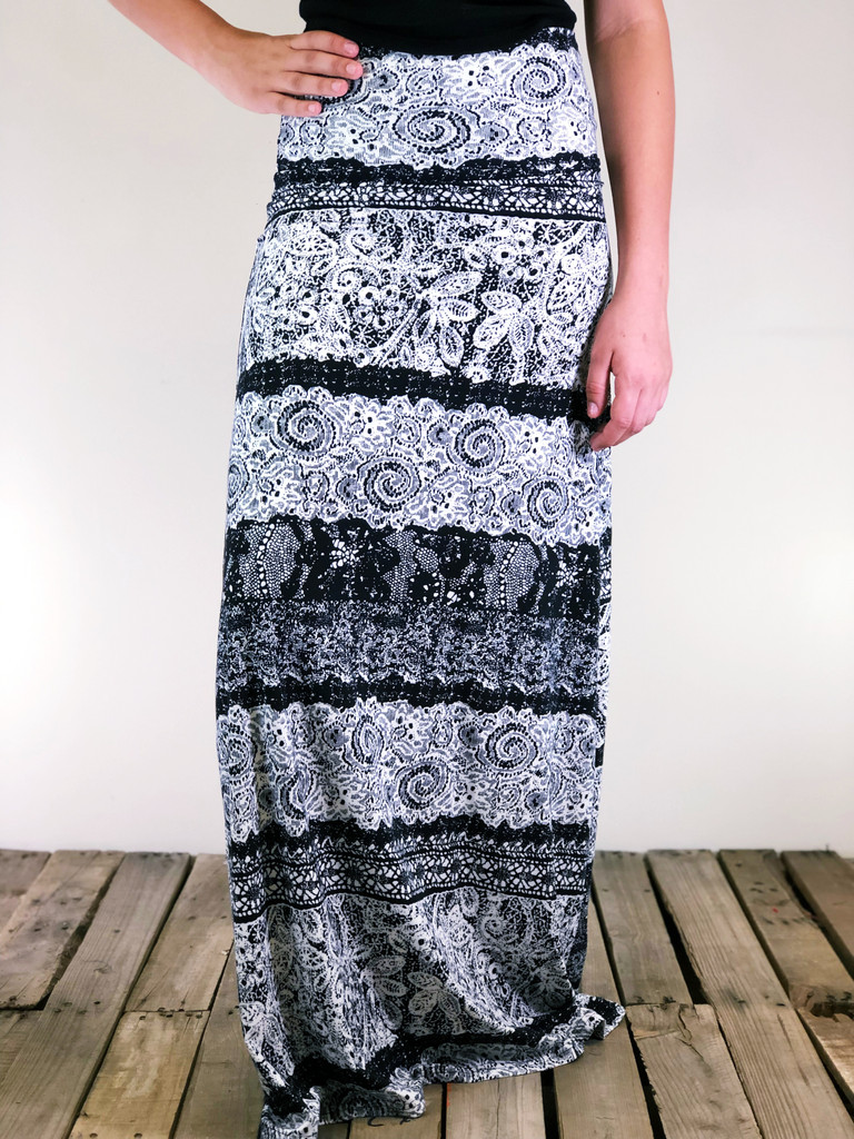 One Size Maxi- Wrapped In Lace