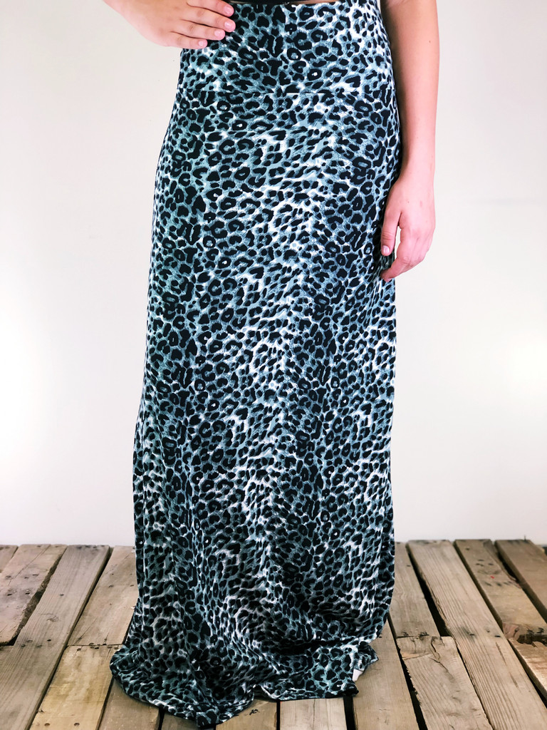 One Size Maxi- Cheetah- Blue