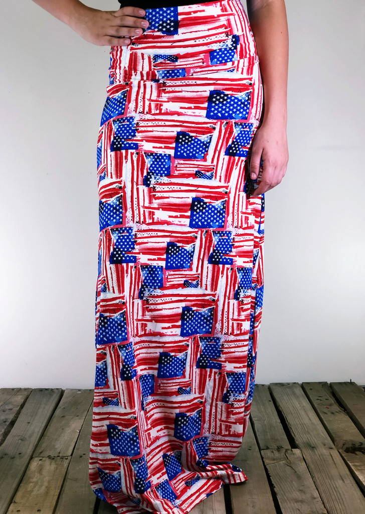 One Size Maxi- God Bless America